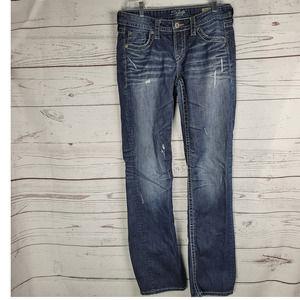 "Silver Jeans Lola 17"" Straight Leg Women's Denim J"